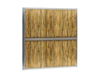 Bamboe schutting in twee hoogtes
