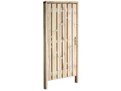 Grenen poort inclusief hang en sluitwerk.