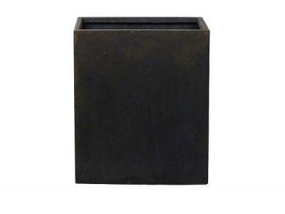plantenbak vierkant static 96 cm zwart