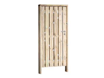 Grenen poort inclusief hang en sluitwerk 100 x 190 cm