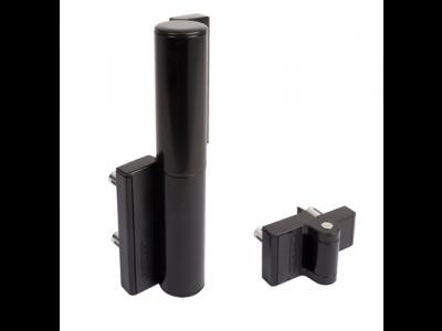 Compact scharnier en poortsluiter zwart