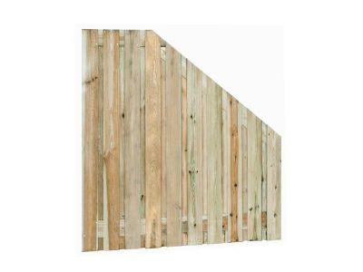 Grenen tuinscherm 21 planks Geel groen verloop