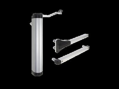 Krachtige en all-round hydraulische poortsluiter voor 90° en 180° scharnieren zilver