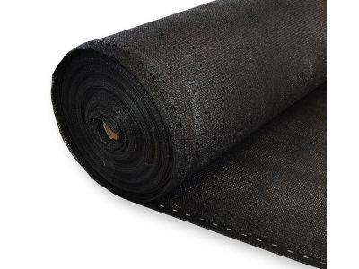 winddoek op rol 50 meter 1,80 meter breed zwart