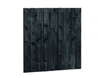 Zwart gespoten tuinscherm | 19 planks